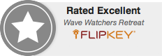 Rated Excellent on Flip-Key TripAdvisor